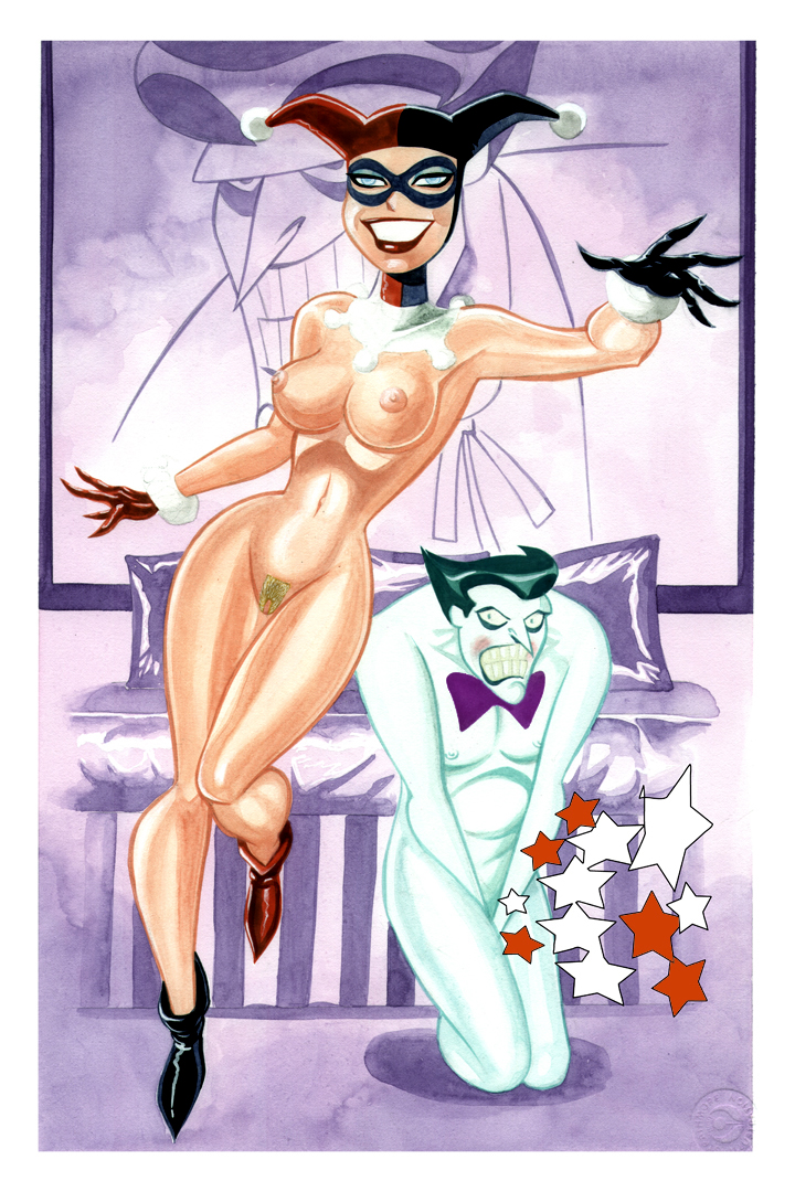 hentai quinn and harley joker Fairy tail girl tied up