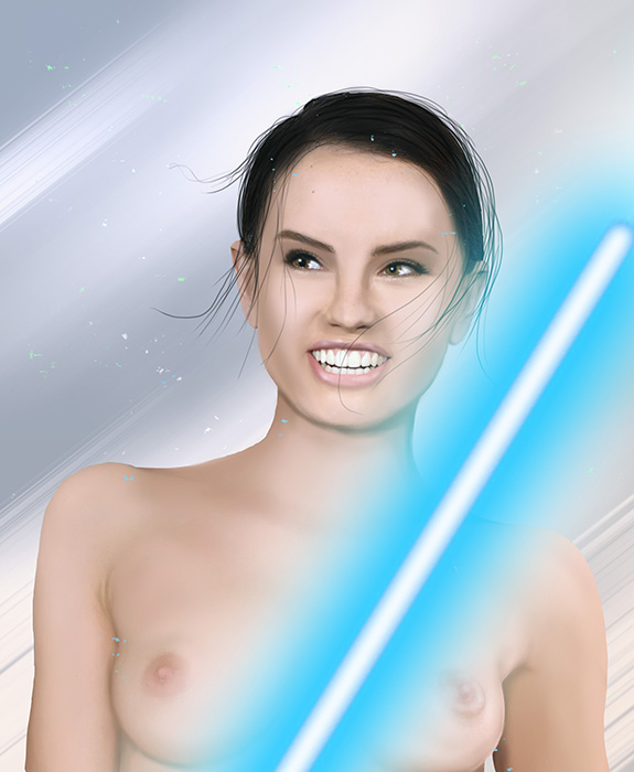 awakens star the rey naked force wars Ben and gwen