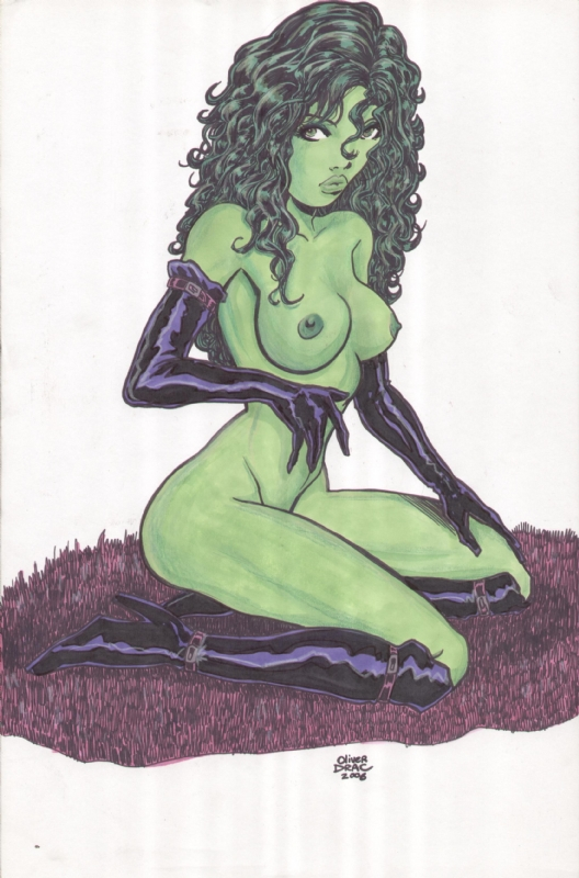 she-hulk Thigh highs for thick thighs